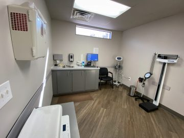urgent care room at mountain lakes physicians group